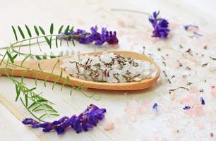 Herbal sea salt spa