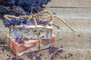 Lavender handmade soap photo