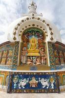 detalle de la estupa shanti alta cerca de leh