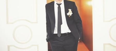 Caucasian groom.
