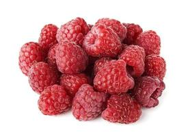 Fresh Raspberries isolated on white background