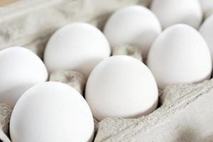 Eggs in cardboard crate-2 photo