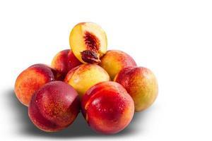 Ripe juicy nectarines photo