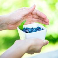 Ripe Honeysuckle Berries in Bowl