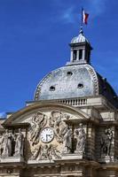 Luxembourg garden clock photo