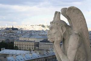 Gargoyle, Notre Dame Cathedral in Paris France.