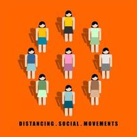Distancing Social Movements Between Colorful Females