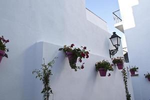 calle en típico pueblo andaluz blanco