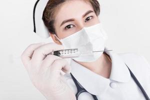 young attractive asian nurse