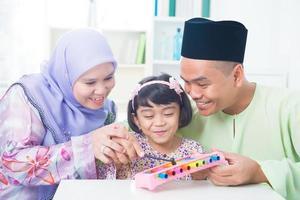 familia del sudeste asiático foto
