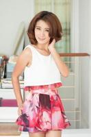 Portrait beautiful asian girl photo