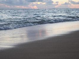 Twilight beach of Waikiki