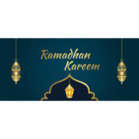 Golden lantern greeting cards for Ramadan