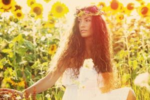 beauty in sunflower field