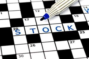stock para resolver crucigramas, de cerca foto