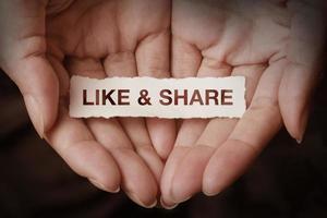 like & share photo