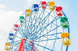 Vintage ferris wheel in the park photo
