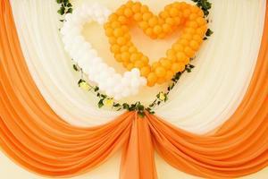 Decoration of wedding photo