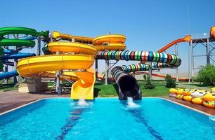 Aquapark sliders photo