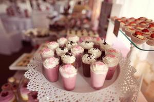 Candy buffet with a wide variety of candies photo