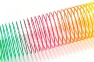 juguete de muelle helicoidal foto