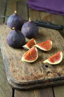 Fresh figs on a chopping board photo