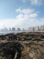 City and beach photo