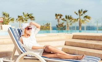 Young woman enjoying sun
