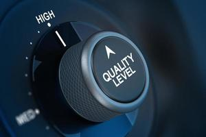 Total Quality Management Customer Satisfaction Concept photo