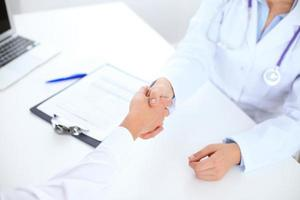 Partnership, trust and medical ethics concept photo