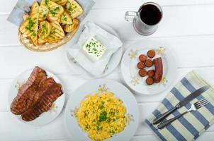 Hearty breakfast photo
