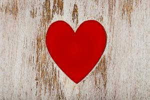 red heart cut out wood photo
