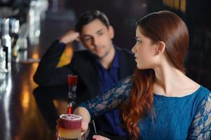 Meeting in the nightclub photo