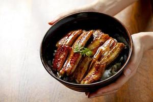 Bowl of eel and rice photo