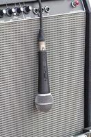 Microphone on amp