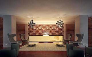 réception intérieur moderne