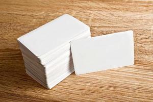 tarjetas de visita con esquinas redondeadas foto