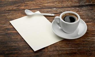 coffee and letter