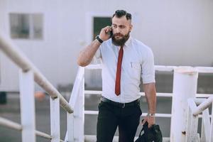 uomo d'affari fuori