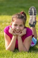niña feliz foto