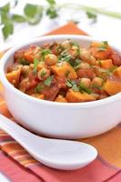 garbanzos batata al curry foto