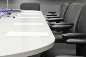 preparación de la sala de conferencias
