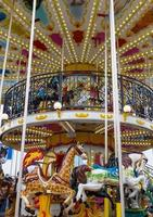 Merry go round in carnival vertical