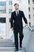Hombre de negocios exitoso. foto