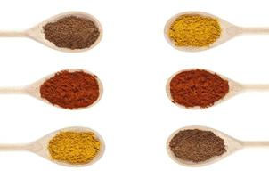 Cooking with spices photo