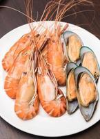 Seafood mix close-up