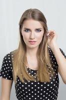 Blonde woman photo