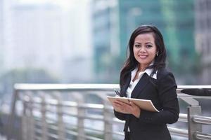 retrato de mujer de negocios foto