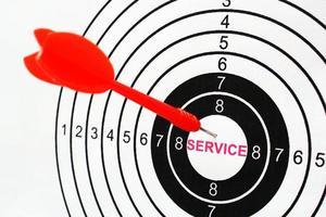 Service target photo