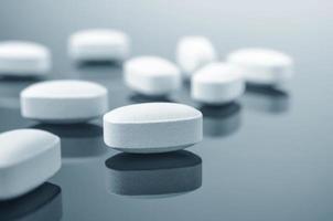 Close-up of medicine tablets photo